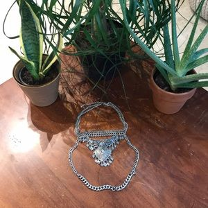 Silver Chunky Statement Necklace